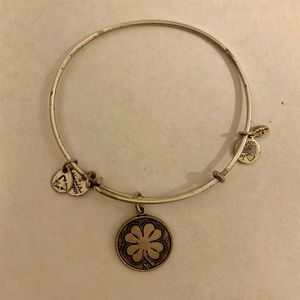 Alex & Ani Four Leaf Clover Charm Bangle